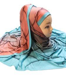 Justkartit Jersey Stretchable Material Party Wear Printed Hijab Scarf Dupatta For Women