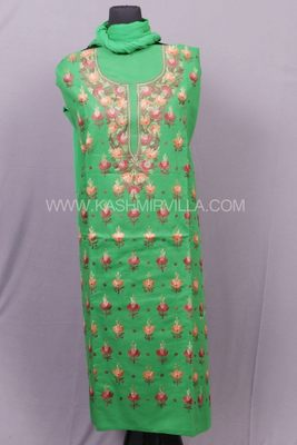 Green Aari Cotton Salwar