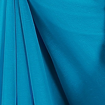 Light blue plain georgette saree with blouse