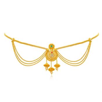Yellow diamond bridal-kamarband