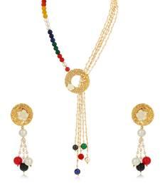 Multicolor diamond collar-necklace