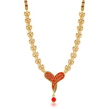 Red diamond collar-necklace