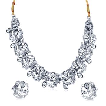 Silver diamond chokers