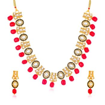 Yellow diamond collar-necklace