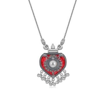 Silver diamond collar-necklace