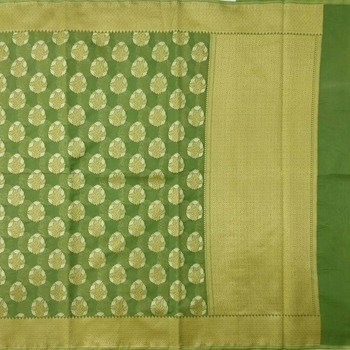 mahendi woven cotton saree with blouse