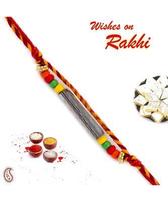 Centrified Colorful Beads Mauli Rakhi