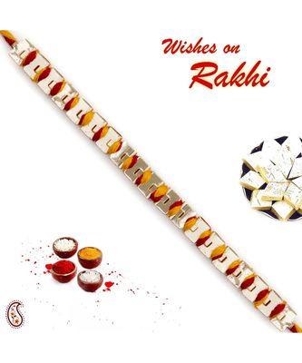 Golden Chain Mauli Knitted Thread Rakhi