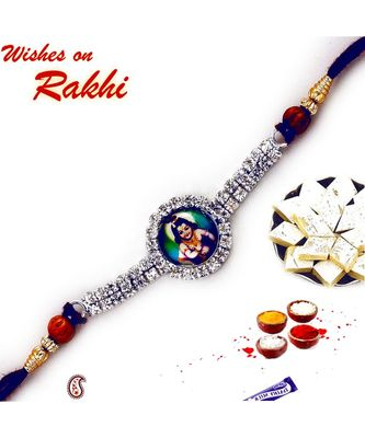 Lord Krishna stone stud Rakhi