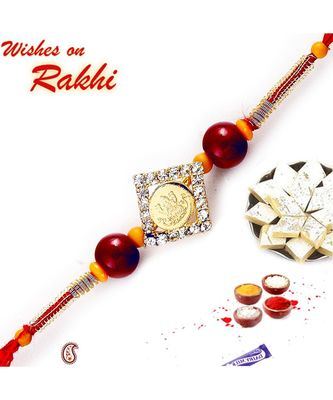 Shree Laxmi ji Rakhi with American Diamonds and beads