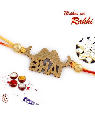 Stud Bhai Motif Rakhi