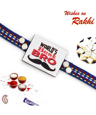 World's Best Brother Motif Rakhi