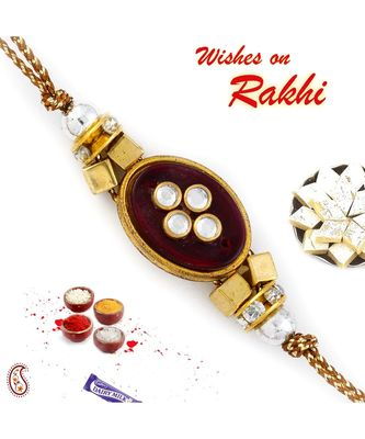 Crystal Beads Studded Beautiful Rakhi