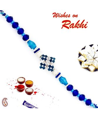Dashing Aqua & Royal Blue Stylish Rakhi