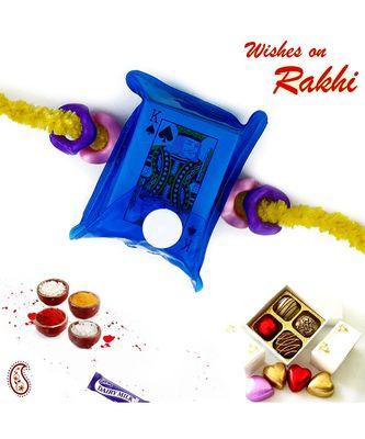 Blue Playing Card Pack Kids Rakhi