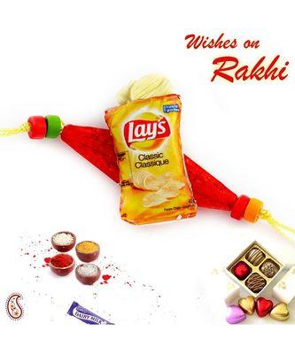 Classic Lays miniature motif Rakhi for Kids