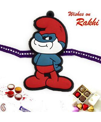 Red & Purple Smurf Kids Rakhi
