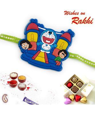 Multicolor Doremon & Friends Kids Rakhi