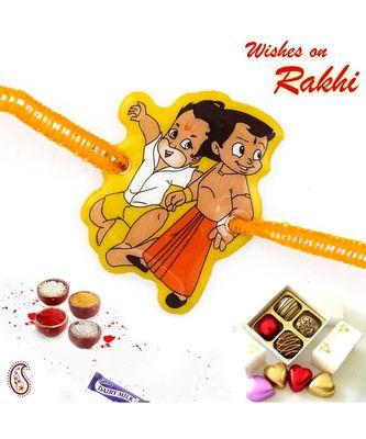Lovely Hanuman & Chhota Bheem Kids Rakhi