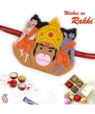 Multicolor Ram, Laxman & Hanuman Kids Rakhi