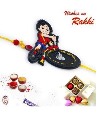 Cute Cartoon Motif Kids Rakhi