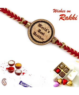 """""""World'S Best Brother"""" Sweet Kids Rakhi"""