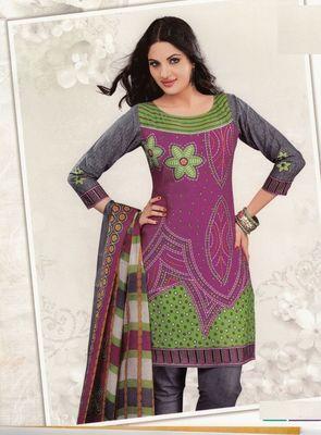 Cotton Dress Material Elegant Designer Unstitched Salwar Suit D.No 2604