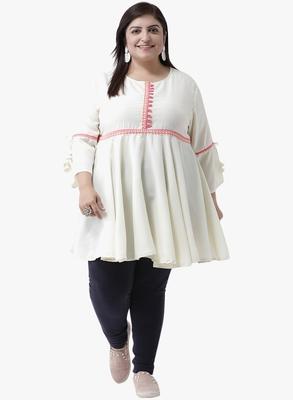 Women's White Printed Tunics