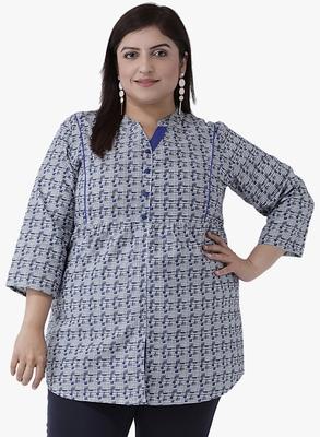 Women's Blue Printed Tunics