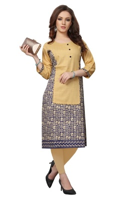 Women's Cotton Traditional Casual Wear A-line Kurti