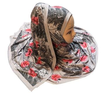 Justkartit Jersey Stretchable Material Casual Wear Floral Printed Hijab Scarf Dupatta