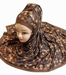 Justkartit Jersey Stretchable Material Daily Wear Floral Printed Hijab Scarf Dupatta For Women