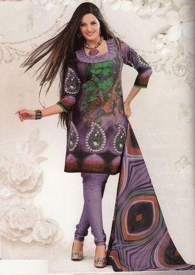 Cotton Dress Material Elegant Designer Unstitched Salwar Suit D.No 2609