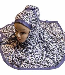 Justkartit Women's Party Wear Jersey Stretchable Material Printed Hijab Scarf Dupatta