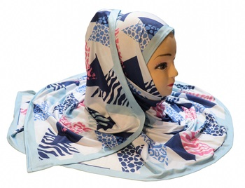 Justkartit Women'S Daily Wear Jersey Stretchable Material Printed Hijab Scarf Dupatta