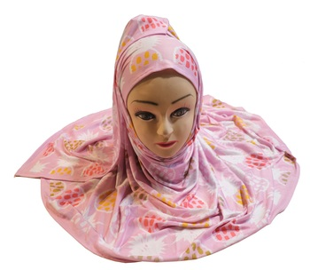 Justkartit Women'S Occasion Wear Pink Color Jersey Stretchable Material Hijab Scarf Dupatta