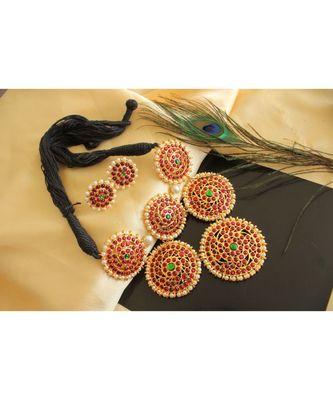 Beautiful Kemp Green Designer Necklace Set
