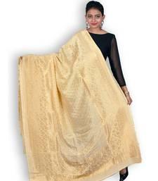 Golden Pure Banarasi Silk Dupatta