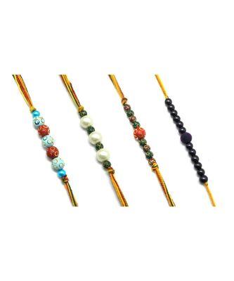 Multicolor Jewellery Designer Fancy Stylish Beautiful Combo (Set Of 4) Rakhi For Brother