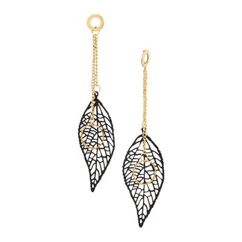 Black Color Stylish Leaf Shape Party Wear Earrings/Jhumki For Girls And Women