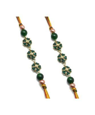 Multicolor Jewellery Designer Fancy Stylish Beautiful Combo (Set Of 2) Rakhi For Brother