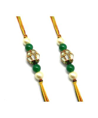 Multicolor Jewellery Designer Fancy Stylish Beautiful Combo (Set Of 2) Rakhi For Brother
