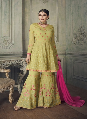 Pear embroidered georgette salwar