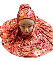 Justkartit Occasion Wear Jersey Stretchable Material Printed Hijab Scarf Dupatta