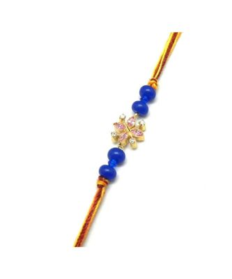 Multicolor Jewellery Designer Fancy Stylish Beautiful Rakhi For Brother
