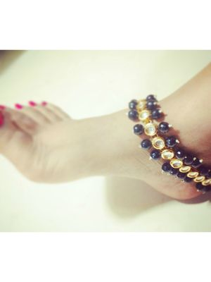 Black anklets