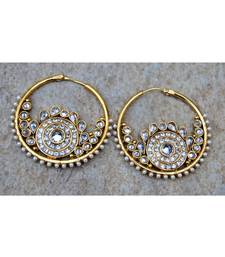 Round Bali Polki Earrings with Chand
