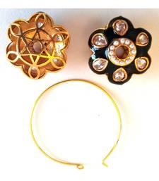 Maroon Flower Hoop Earrings