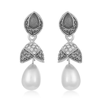 Grey diamond earrings