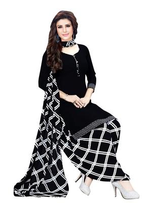 Black Printed Crepe Salwar
